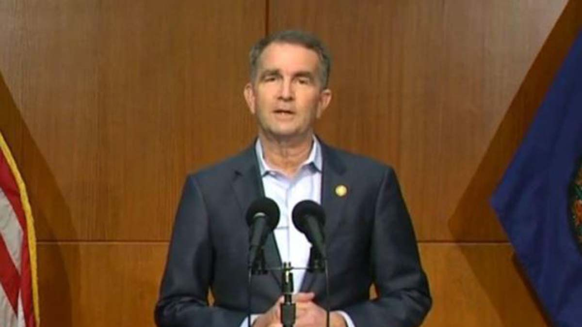 Photo via Gov. Northam's live stream. Gov. Ralph Northam announces the new restrictions Thursday afternoon.