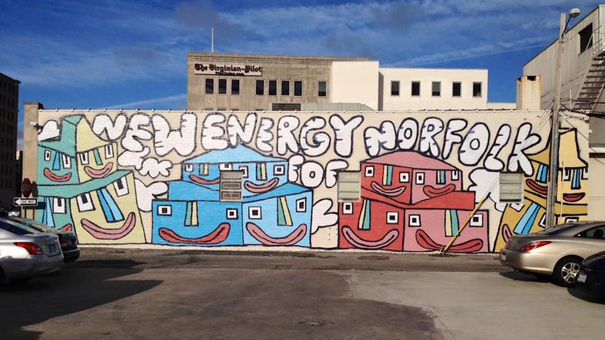 New mural in NEON art's district by Rickard Nickel