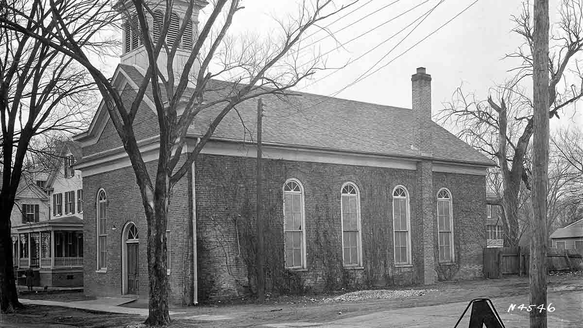 Photo courtesy of Let Freedom Ring Foundation. First Baptist Church in Colonial Williamsburg first stood at the corner of Francis and Nassau streets. Archaeologists are now digging up the foundation of the building.