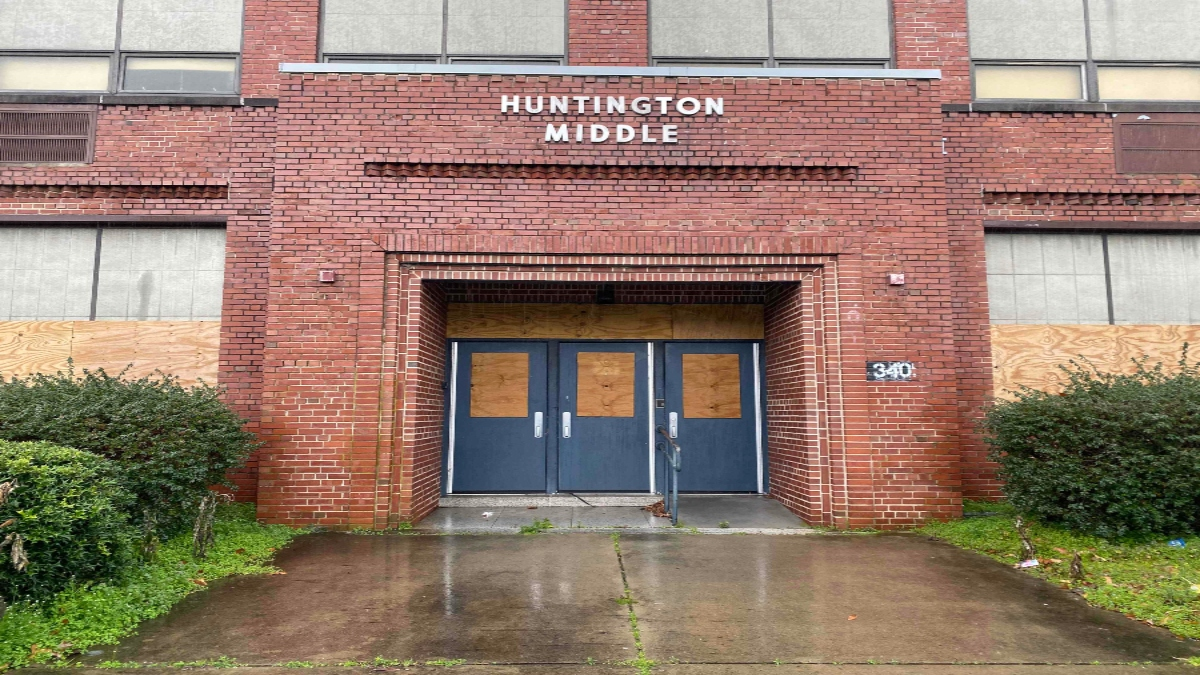 Huntington Middle School in Newport News was previously the all-black high school during segregation.