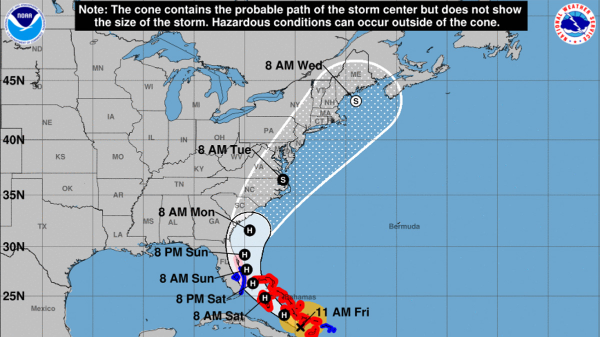 Photo courtesy of National Hurricane Center. Isaias' impact on Eastern Virginia could depend on how much it weakens and whether it stays offshore.