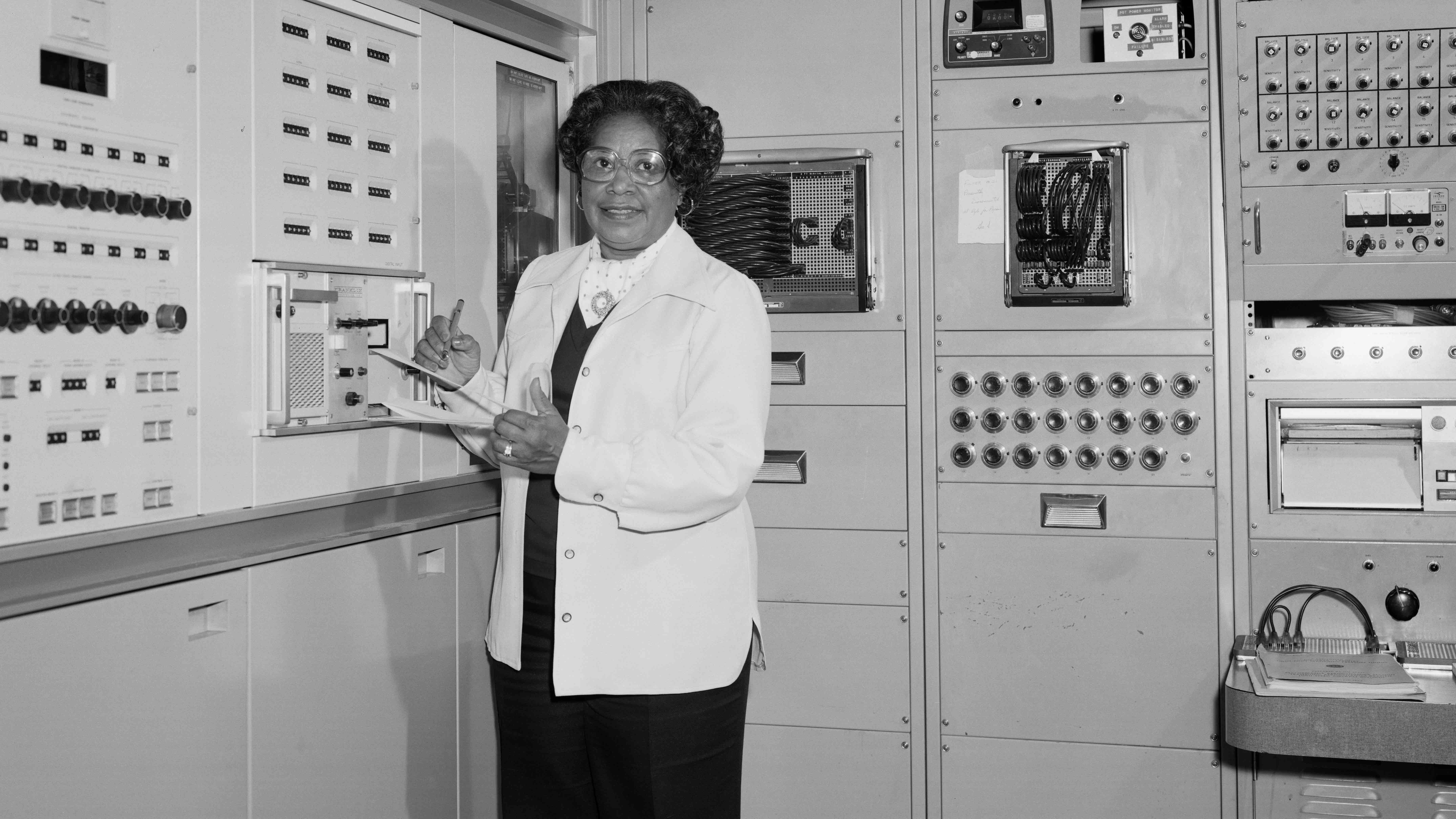 Photo courtesy of NASA. Mary Jackson started as a human computer at NASA, doing complicated math in a segregated wing of the Langley location.