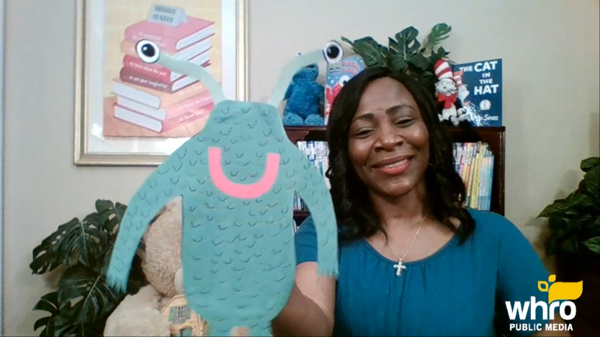 "Photo courtesy WHRO. Martha Razor always has something fun to share with viewers at the end of story time on ""Martha Reads."""
