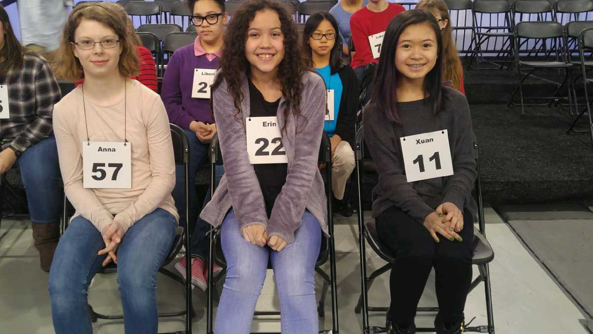 Contestants from the 2017 Virginian-Pilot Spelling Bee